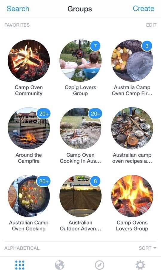 camp oven related facebook Groups