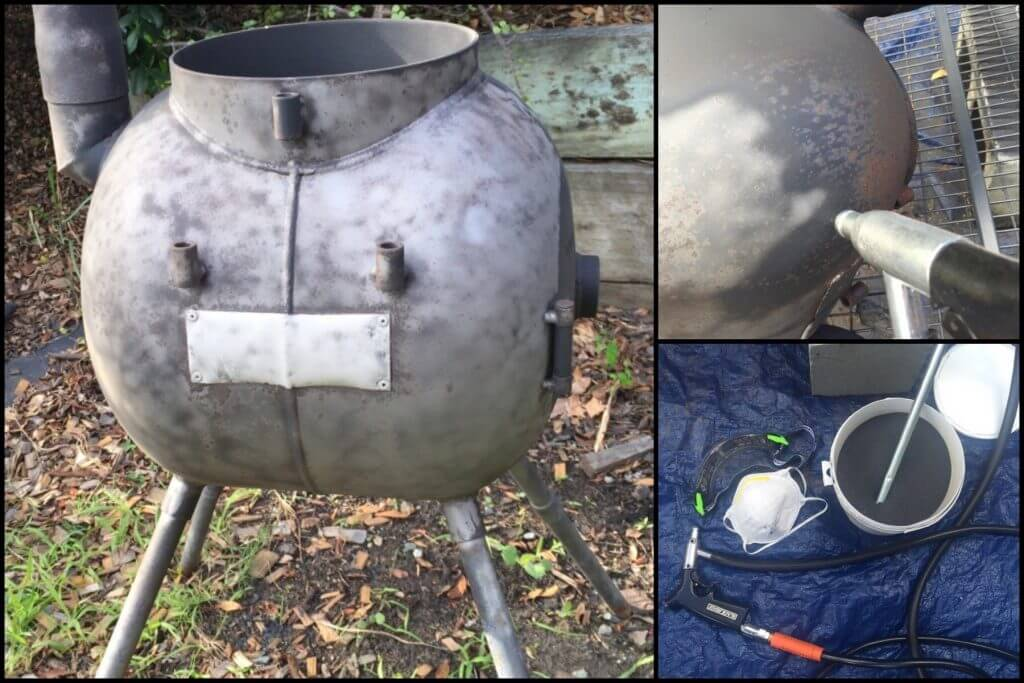 Cleaning and Repainting a Rusty Ozpig Using a Sandblaster 2