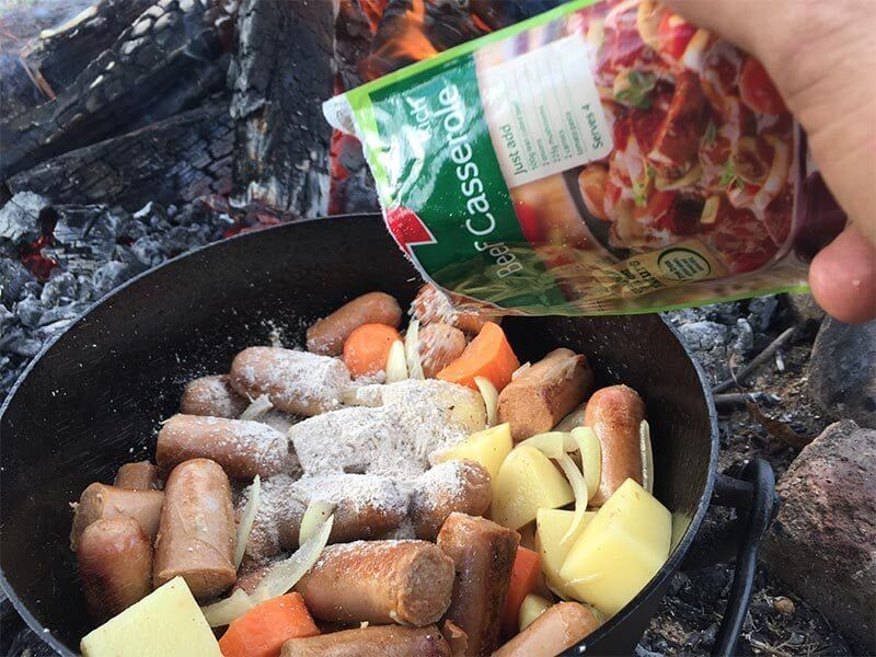 Easy Camp Oven Sausage Casserole Recipe