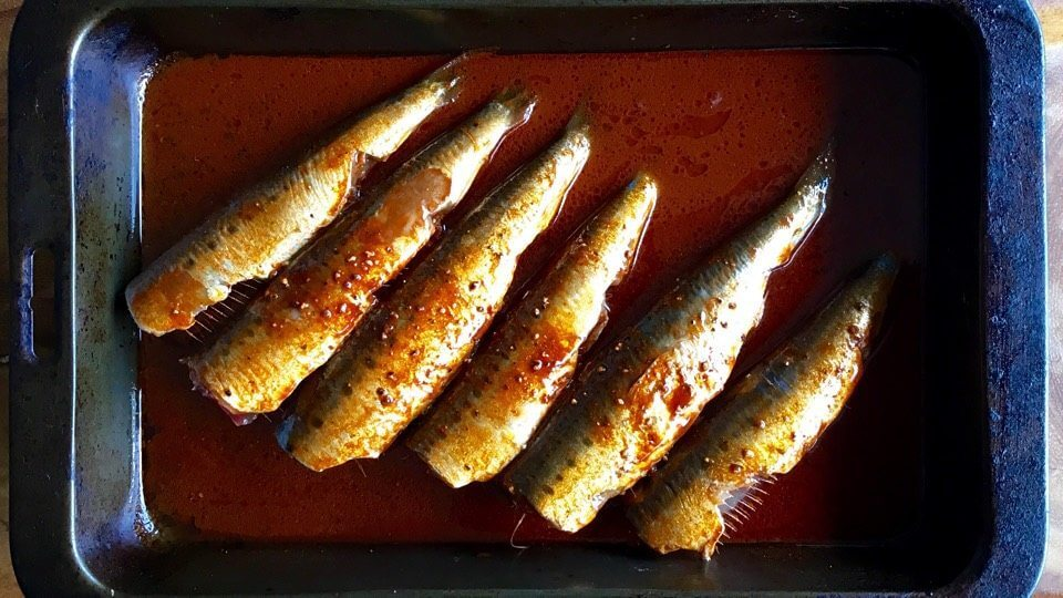 Chargrilled Sardines cooked on a Ozpig