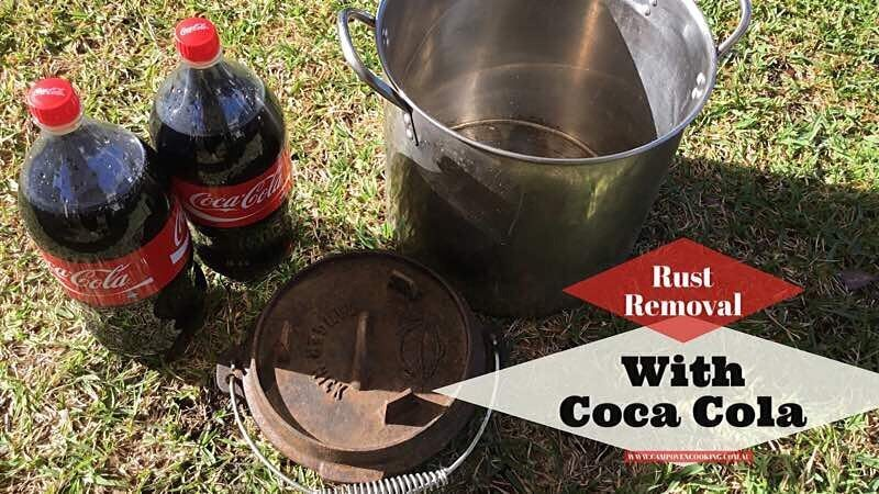 Cleaning Rusty Camp Ovens with Coca-Cola