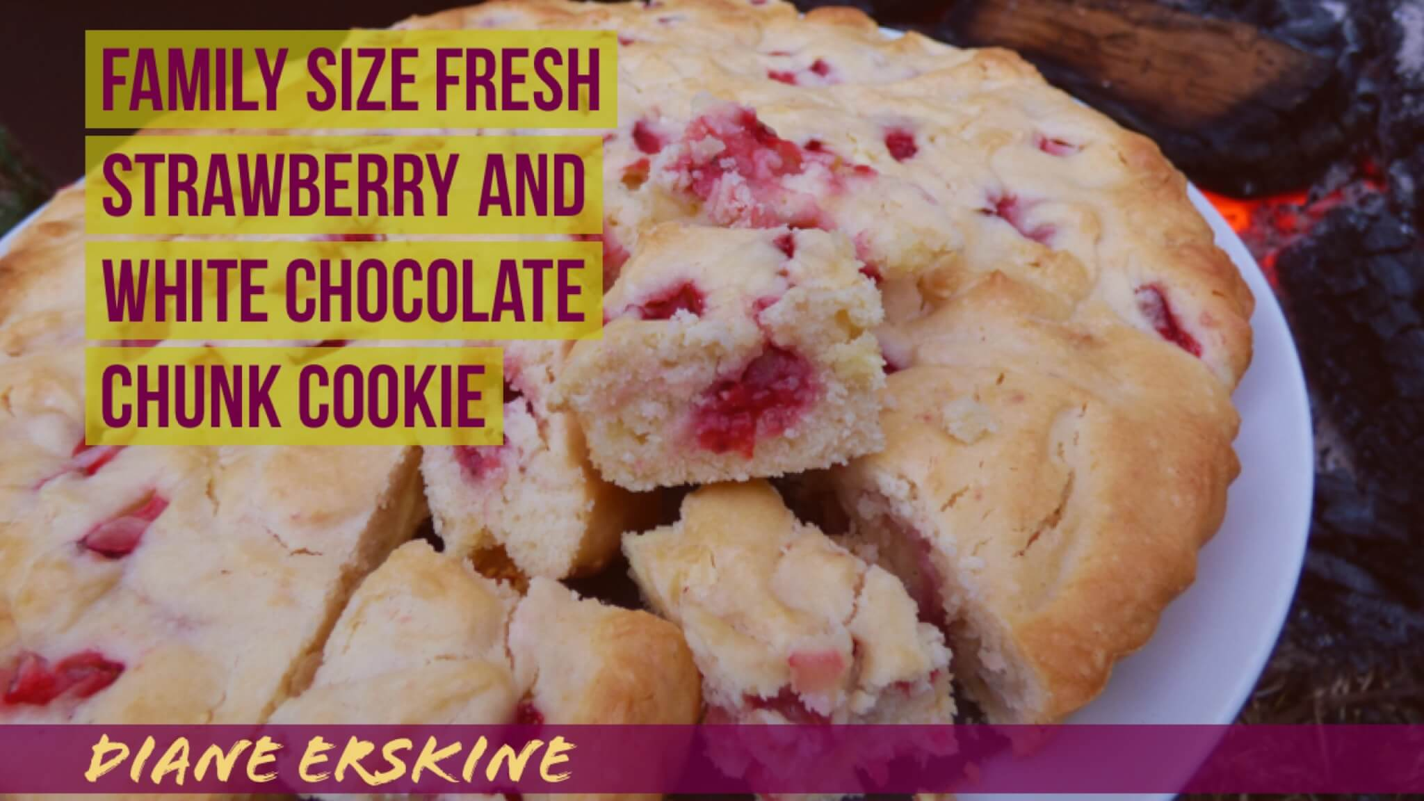 Family-Size Strawberry and Chocolate Chunk Cookie | Diane Erskine