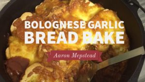 Bolognese Garlic Bread Bake