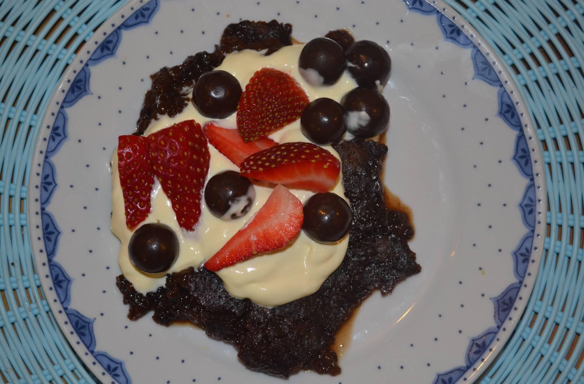 Chocolate Maltesers Cobbler