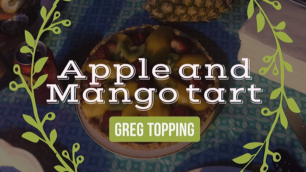 Apple and Mango tart