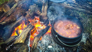 camp oven lamb shanks