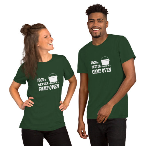 Food is Better in a Camp Oven Unisex Shirt 3