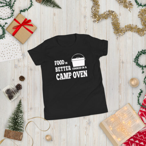 Food is Better Cooked In A Camp Oven Shirt - Youth 1