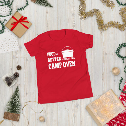 Food is Better Cooked In A Camp Oven Shirt - Youth 3