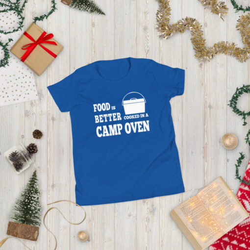 Food is Better Cooked In A Camp Oven Shirt - Youth 4
