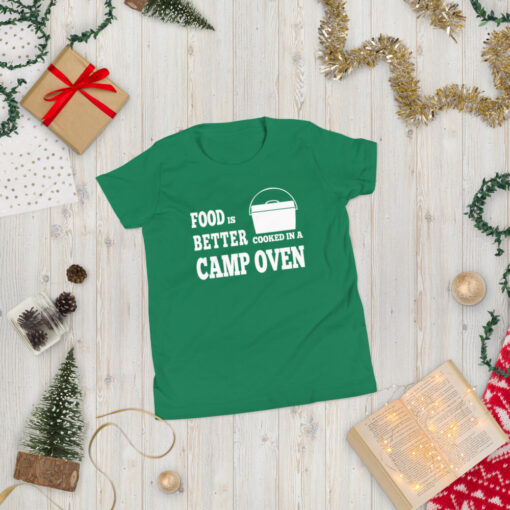 Food is Better Cooked In A Camp Oven Shirt - Youth 6