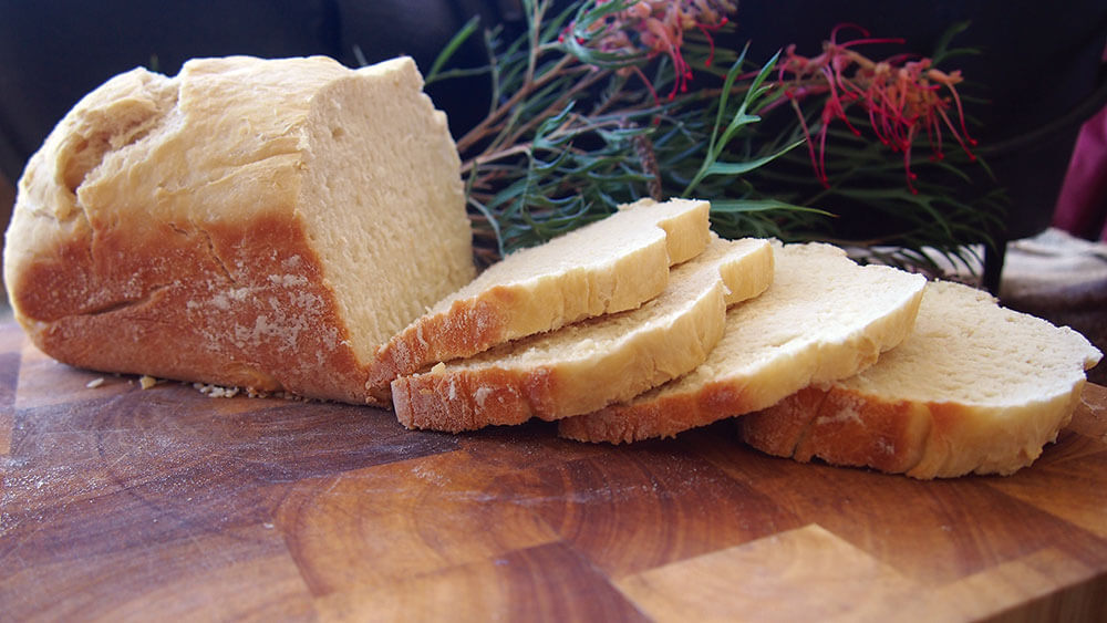 a photo of the basic white bread cooked